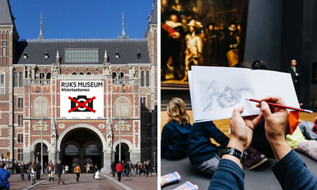 A Museum In Amsterdam 'Bans' Cameras And Asks People To Sketch Artwork To Truly Appreciate It
