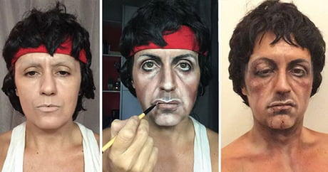 Portrait Artist Transforms Herself Into Celebrities All By Makeup(by Lucia Pittalis)
