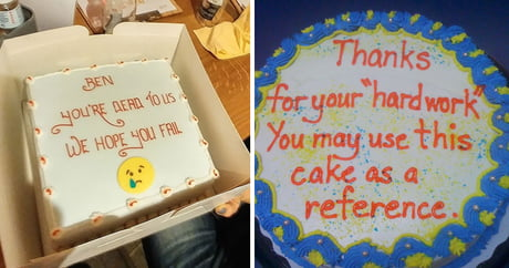 23 Hilarious Farewell Cakes That Employees Got On Their Last Day At The Office