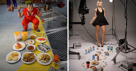 What ordinary people eat around the world, in photographs (By Peter Menzel)