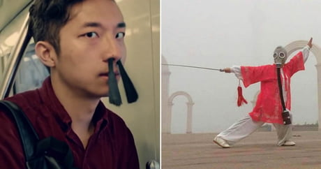 Surreal Pictures Show You How People Adapt To China's Recent Airpocalypse