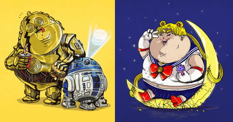 Famous chunkies: what characters would look like if they overate (Alex Solis)