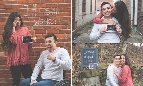Paraplegic Guy And His Wife Announce They're Pregnant In The Best Way Ever