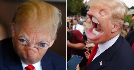 Creepy and funny Trump photo collages