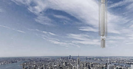 World's First Skyscraper Designed To Hang Suspended From An Asteroid