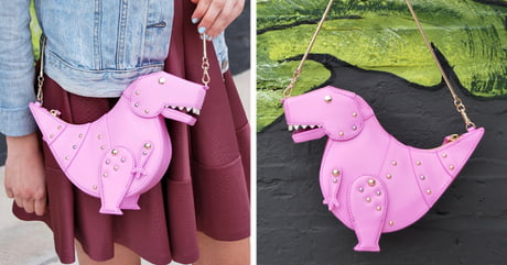 This T-Rex purse will keep all your things safe