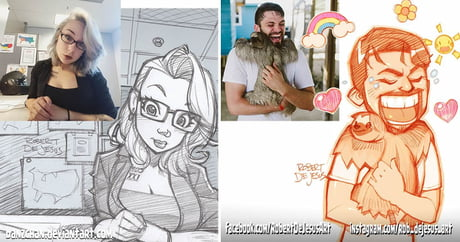 This awesome talented artist turns strangers into anime-inspired cartoons