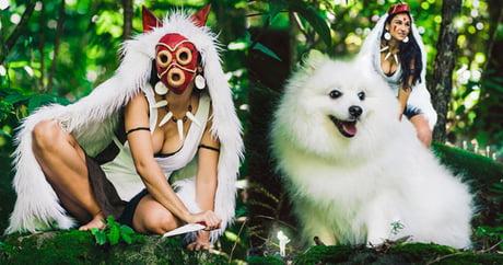 Hawaiian photographer uses own dog in Princess Mononoke cosplay for an overdose of cute