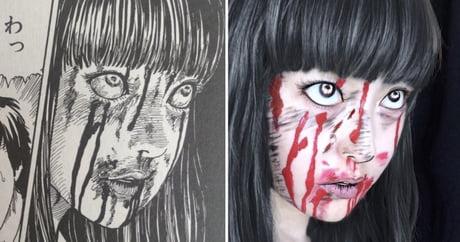 Recreating Scary Girls In Junji Ito's Manga With Facepaint