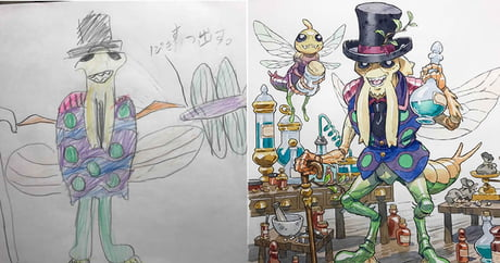 Animator Dad Transforms Son's Drawings Into Badass Characters