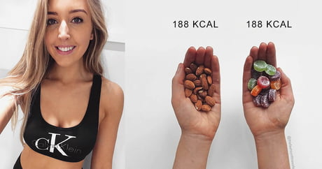 Fitness Blogger Posts Comparisons To Challenge The Conventional Ideas Of What Makes A Healthy Snack