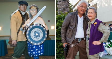 Retired couple that cosplays together is the very definition of relationship goals