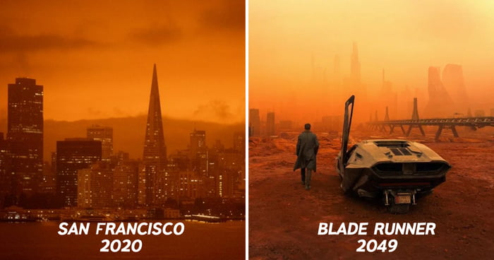 Guy Combines Footage Of San Francisco Orange Sky With 'Blade Runner 2049' Soundtrack - 9GAG